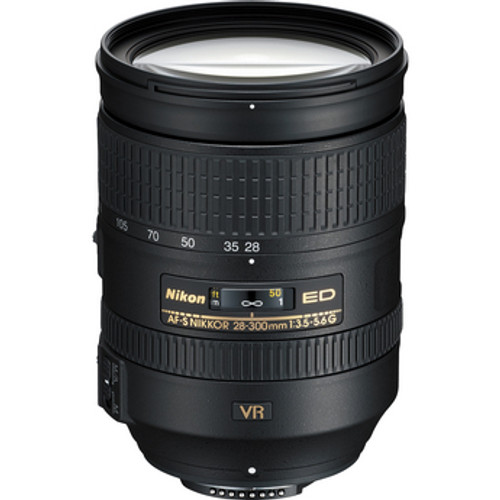 "An ideal lens for FX-format D-SLRs, featuring a 10.7X zoom, close focus to 18"" at every focal length and VR II image stabilization"