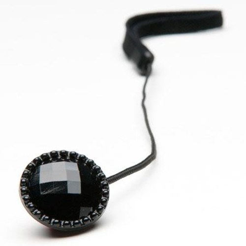 Mod Black Rhinestone Cap Saver