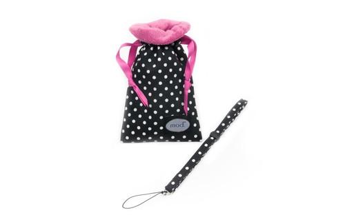 Mod Black Polka Dot Compact Camera Pouch & Strap