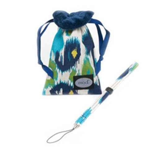 Mod Navy Floral Compact Camera Pouch & Strap