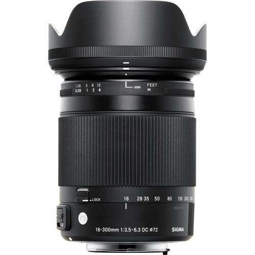 Sigma 18-300mm f/3.5-6.3 DC MACRO OS HSM Contemporary Lens for Nikon F