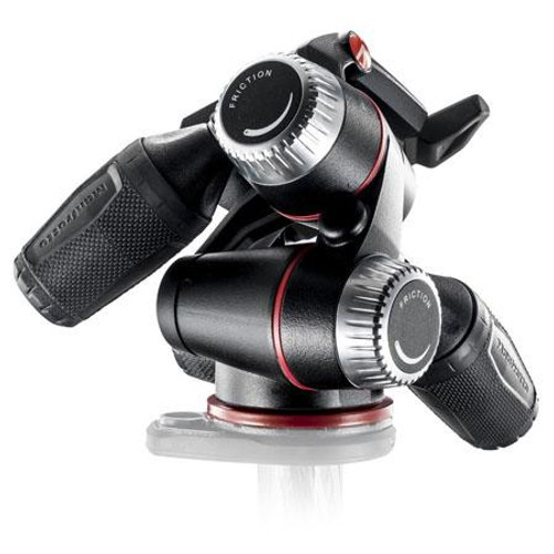Manfrotto MHXPRO-3W X Pro 3-Way Head with Retractable Levers/Friction  Controls, 17 64lbs Load Capacity