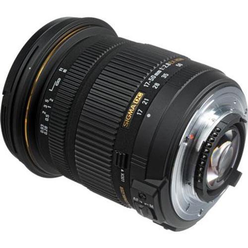 Sigma 17-50mm f/2.8 EX DC OS HSM Auto Focus Wide Angle Zoom Lens for Nikon Digital SLR Cameras - USA Warranty