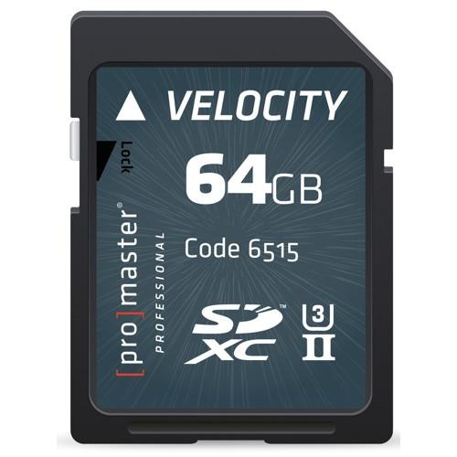 Promaster SDXC Professional Velocity Memory Card - 64GB
