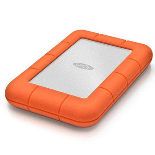 LaCie 2TB Rugged Mini Portable External Hard Drive, 5400 RPM, USB 3.0/2.0, Up to 5Gbps USB 3.0 Transfer Rate, Orange
