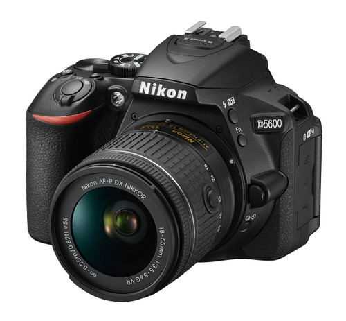Nikon D5600 DX-format Digital SLR Body with AF-P DX NIKKOR 18-55mm f/3.5-5.6G VR Lens