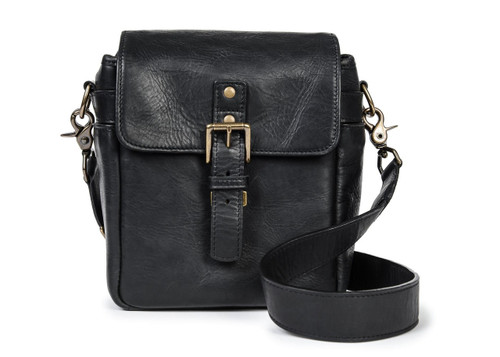 Ona Bond Leather Messenger Bag (Black)