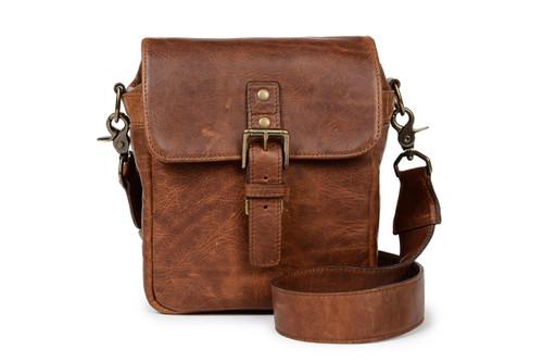 Ona Bond Leather Messenger Bag (Cognac)