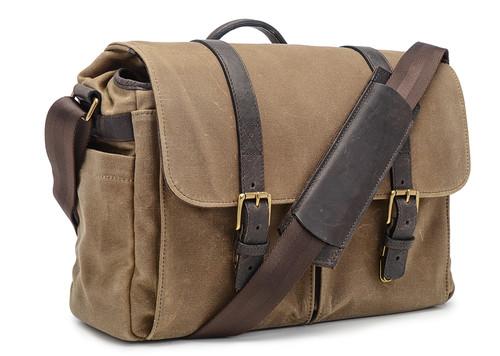 Ona Brixton Canvas Messenger Bag (Field Tan)