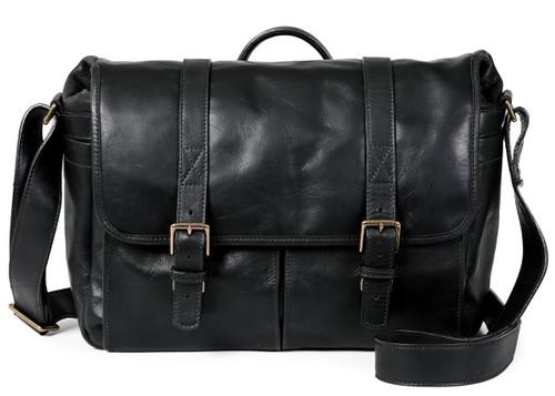 Ona Brixton Leather Messenger Bag (Black)