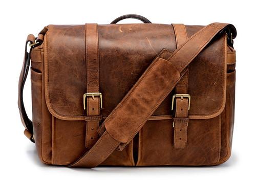 Ona Brixton Leather Messenger Bag (Cognac)