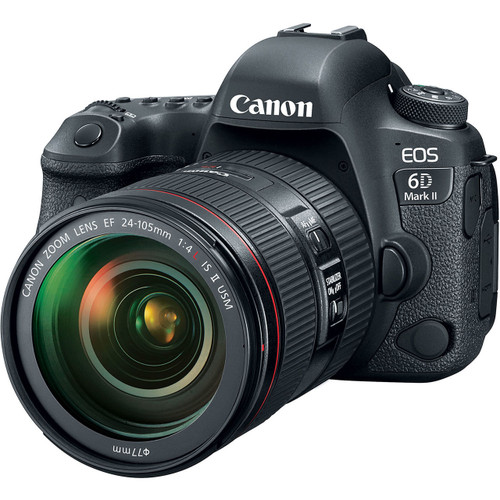 Canon EOS 6D Mark II with EF 24-105mm f/4L IS II USM Lens + Free Bonus