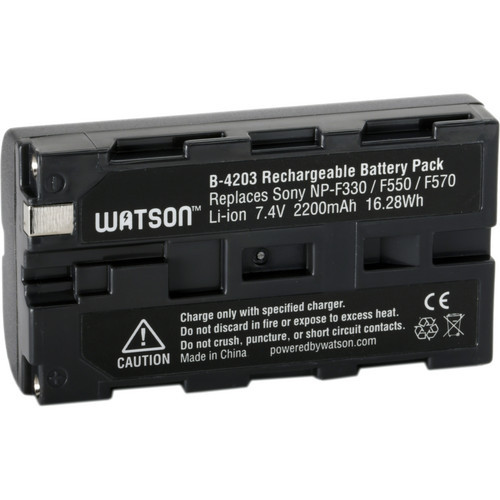 Watson NP-F550 Lithium-Ion Battery Pack (7.4V, 2200mAh)