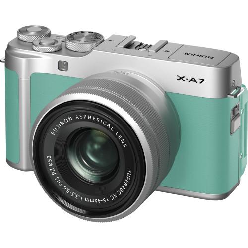 Fujifilm X-A7 Mirrorless Digital Camera with 15-45mm Lens (Mint Green)