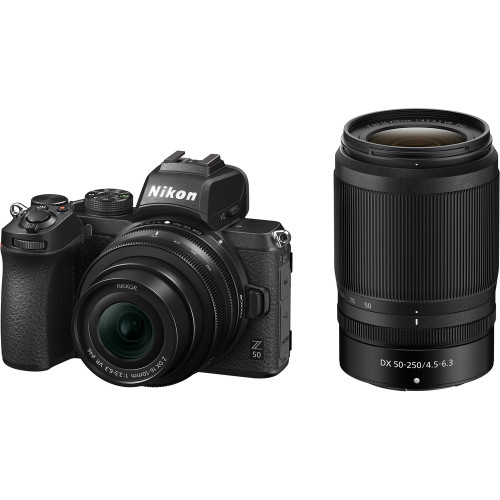 Nikon Z 50 Mirrorless Digital Camera with 16-50mm and 50-250mm Lenses