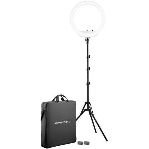 "Westcott 18"" Bi-Color LED Ring Light Kit"