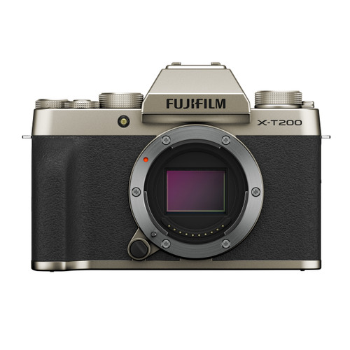 Fujifilm X-T200 Mirrorless Digital Camera Body (Champagne Gold)