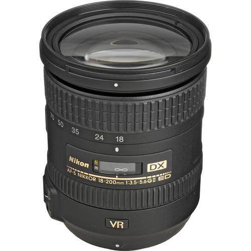 "Nikon ""New"" 18mm - 200mm f/3.5-5.6G ED IF AF-S DX VR II Wide Angle Telephoto Zoom-Nikkor Lens"