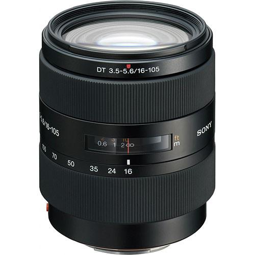 Sony 16-105mm f/3.5-5.6 DT a (Alpha) Mount Digital SLR Wide-Range Zoom Lens with Hood