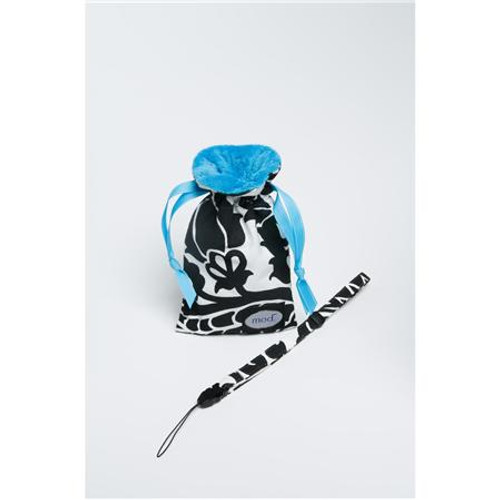 Mod Turquoise Damask Compact Camera Pouch & Strap