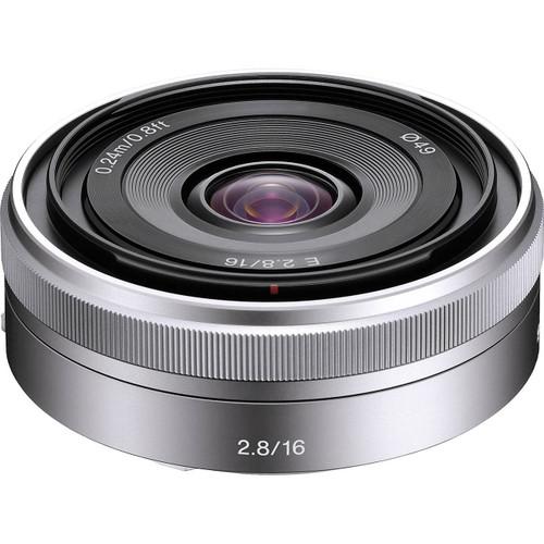 Sony E-Mount 16mm f/2.8 Wide-Angle Alpha E-Mount Lens (Silver)