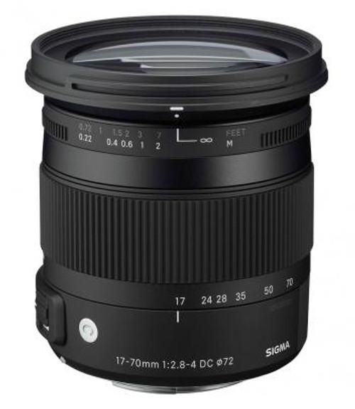 Sigma New 17-70mm f/2.8-4 DC Macro OS (Optical Stabilizer) HSM Lens for Nikon DSLR Cameras - USA Warranty