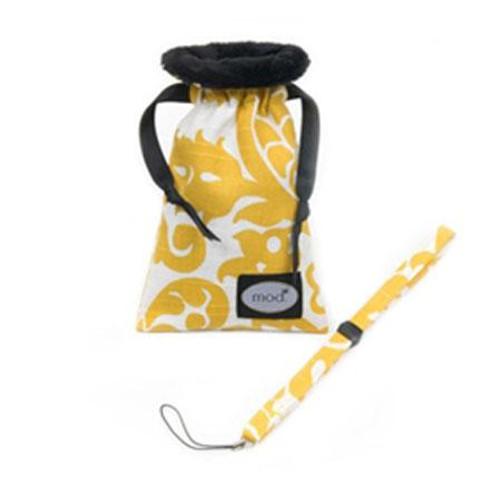Mod Yellow Damask Compact Camera Pouch & Strap
