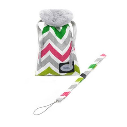 Mod Cheerful Zigzag Compact Camera Pouch & Strap