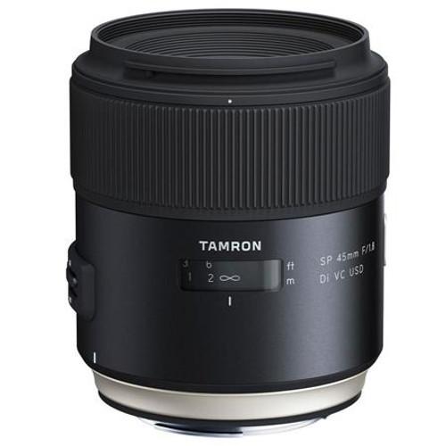 Tamron SP 45mm F/1.8 Di VC USD for Canon EOS Full Frame Digital SLR Cameras - U.S.A. Warranty