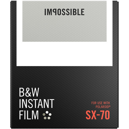 Impossible B&W Instant Film for SX-70 (White Frame, 8 Exposures)