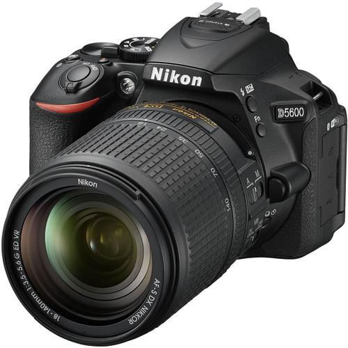 Nikon D5600 DX-format Digital SLR Body with AF-S DX NIKKOR 18-140mm f/3.5-5.6G ED VR Lens