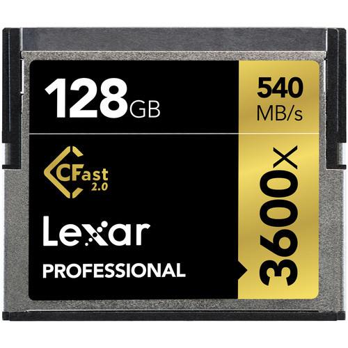 Lexar 128GB Professional 3600x CFast 2.0 Memory Card