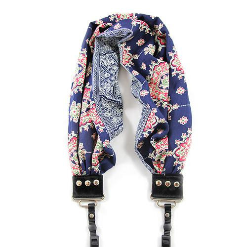 Capturing Couture Scarf Camera Strap - Americana Bluebell