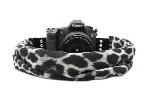 Capturing Couture Scarf Camera Strap - Cheetah Grey
