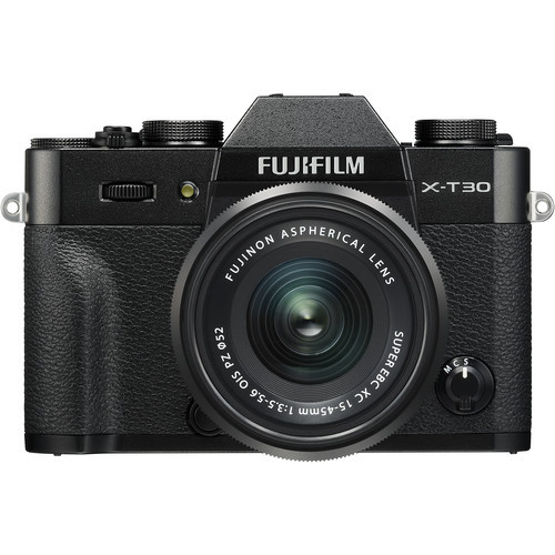 Fujifilm X-T30 and 15-45mm F3.5-5.6 Optical Image Stabilizer Power Zoom Lens Kit (Black)