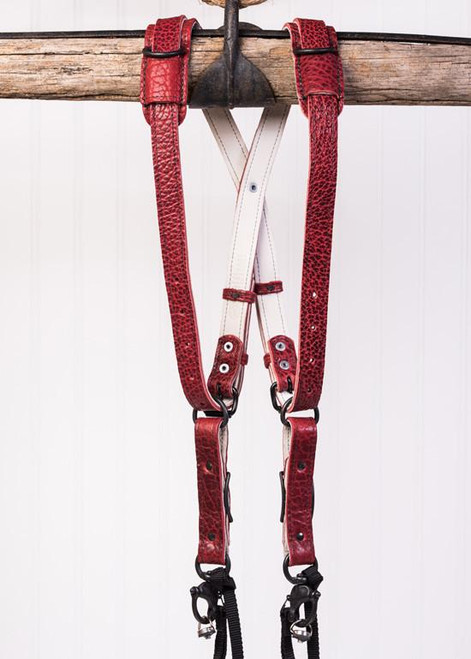 SKINNY MONEY MAKER   AMERICAN BISON LEATHER (RED)