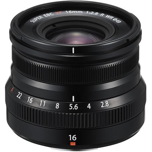 Fujifilm XF 16mm f/2.8 R WR Lens (Black)