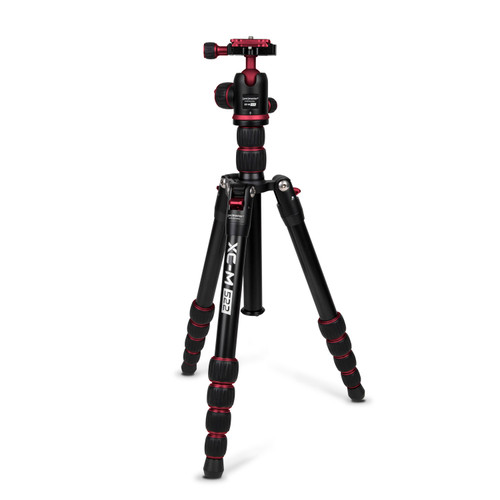 Promaster XC-M 522 Professional Aluminum Tripod Kit with Head - Red