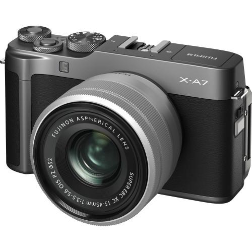 Fujifilm X-A7 Mirrorless Digital Camera with 15-45mm Lens (Dark Silver)