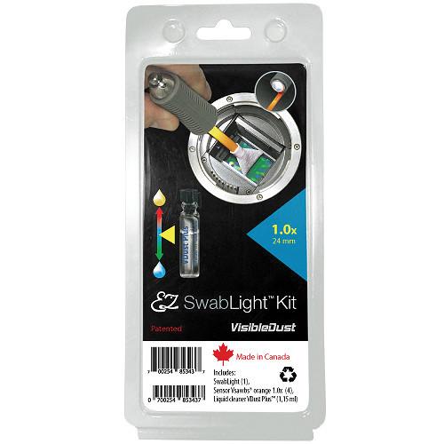 VisibleDust VDust Plus EZ SwabLight Sensor Cleaning Kit (1.0x, Orange DHAP Series Swabs)