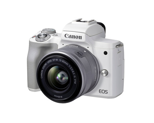 Canon EOS M50 Mark II + EF-M 15-45mm IS STM Kit White