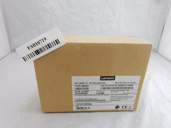 "NEW Lenovo 300GB HDD SAS 15K 2.5"" 12GBPS G3HS Hard Drive Server ZZ 00NA221"