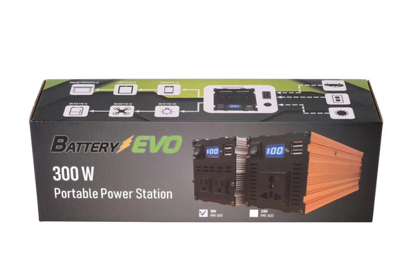 Battery EVO 300W portable power station 160Wh 110V AC