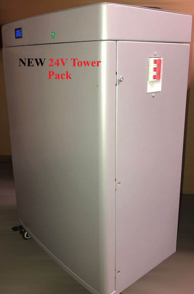 Battery Evo 24V Tower style 240 Ah 6 kWh on the wheels
