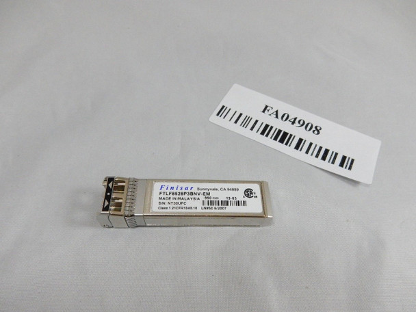 Finisar 8G Fibre Channel 150m SFP+ Optical Transceiver 00KC286 ZZ FTLF8528P3BNV
