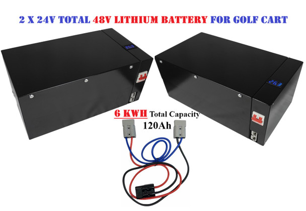 Battery Evo 48V A123 Cells 120Ah 6 kwh LFP 8S-6P Battery Box w/ BMS