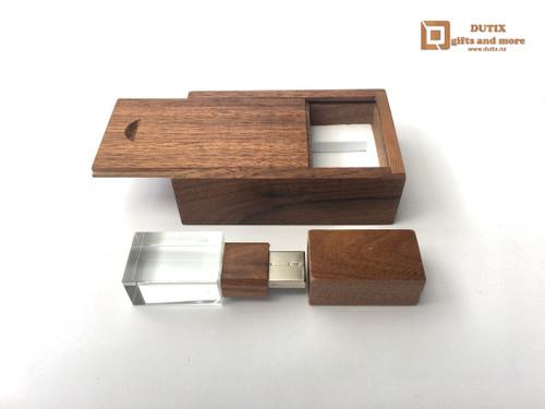 Wooden Walnut 64gb Crystal USB 3.0 Drive