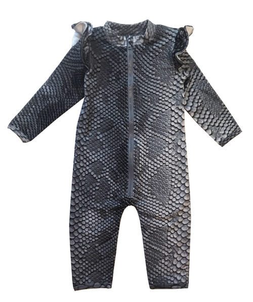 Ruffled Space Suit - Snake Skin