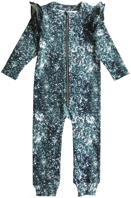 Ruffle Space Suit - Glitter