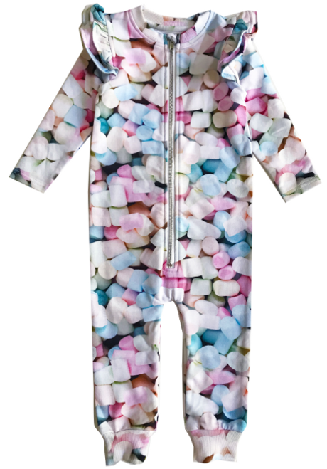 Ruffle Space Suit - Marshmallows